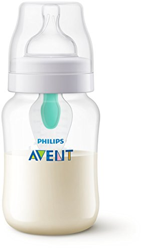 Philips Avent Scf813/14 - Biberón Anti Cólicos con Sistema Patentado Airfree, 260 Ml, Silicona, Transparente
