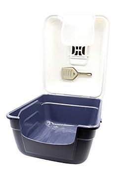 Aimé Maison de Toilette Queen Equipés d'une Porte Battante/Pelle/Filtre Charbon Anti-Odeurs/Poignée de Transport pour Chat 20 Unité