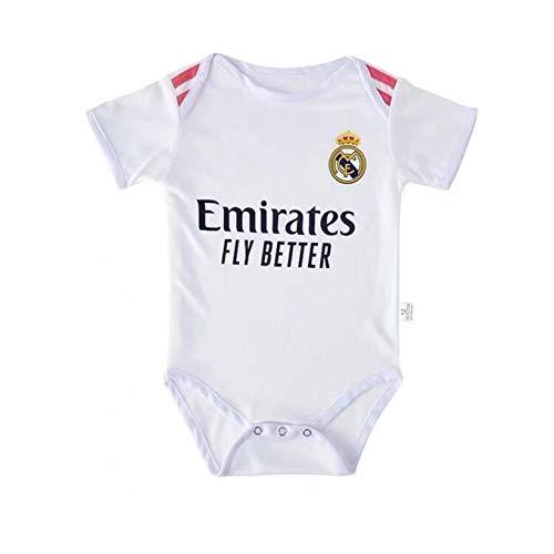 Fußballfans Club Home and Away Soccer Baby Bodysuit Comfort Jumpsuit für 6-18 Monate Säugling und Kleinkind New Season Jersey 6-12 Monate Real Madrid