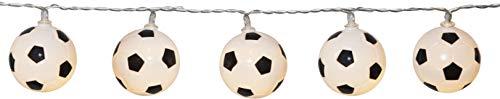 netproshop LED Batterie Lichterkette Fußball 10 Lichter warm weiß Indoor