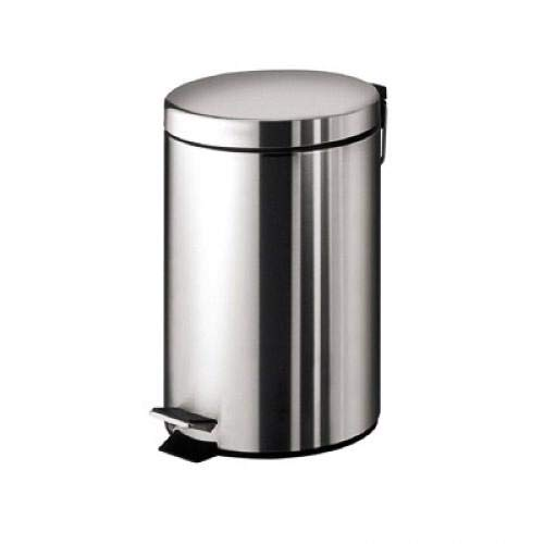 Meadows - Papelera de acero inoxidable con sistema de control de olor, pedal de 3 l para cocina, oficina, hogar