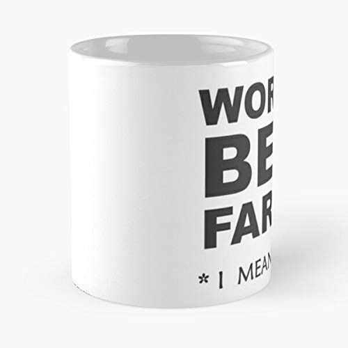 Dad Gifts from Daughter Or Son World's Best Farter - I Mean Father - Funny Step Dad Ideas for Papa & Daddy - Taza de café de cerámica