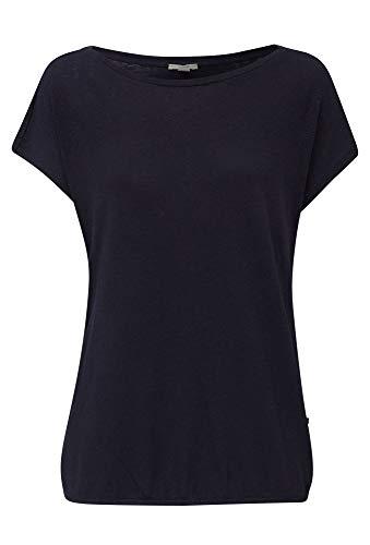 ESPRIT Damen 030EE1K302 T-Shirt, 400/NAVY, L
