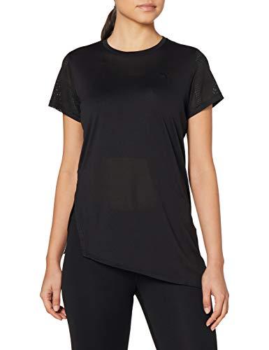 PUMA Studio Lace SS tee Camiseta, Mujer, Negro, XS