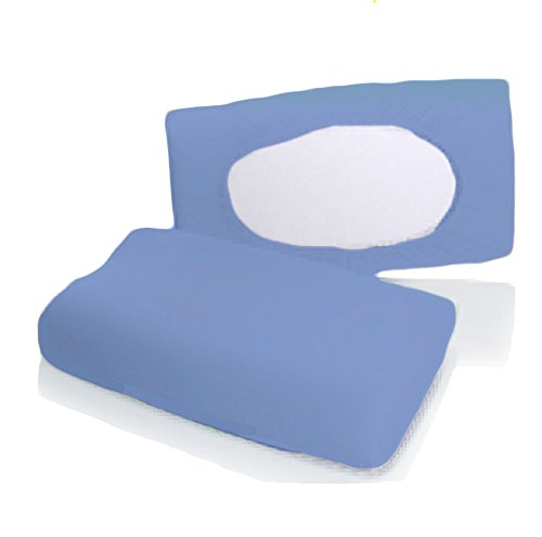 Bellana Gesundheitskissen Bezug Mako Jersey 30-50 x 40-80 cm und 8-15 cm Höhe cm Farbe: mittel blau