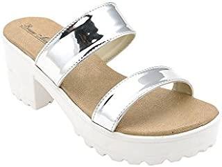 Bruno Manetti Women Silver Patent Leather Heels