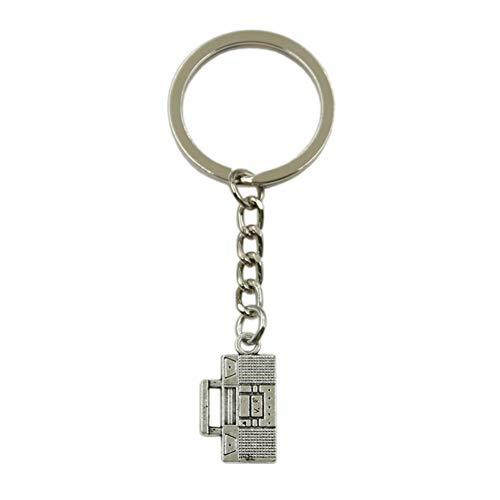 N/A SGDONG Fashion Sleutelhanger voor heren, van metaal, om zelf te maken, radio, wireless kleur zilver cadeau