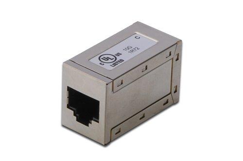 DIGITUS Professional CAT 6A Modular-Kupplung, vollgeschirmt, RJ45 zu RJ45