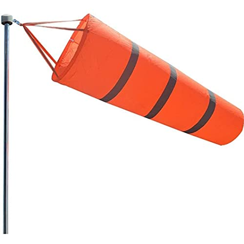 LGLG 60/80 / 100cm Windsack, Windrichtungsanzeiger aus Nylon mit reflektierendem Band, geeignet für Rasenflächen und Gärten (60cm)