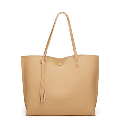 dreubea womens soft faux leather tote