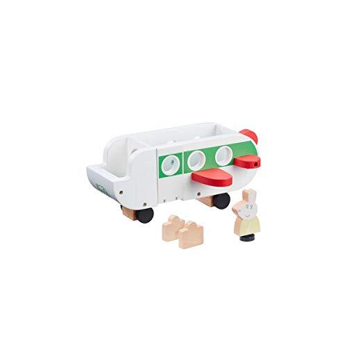 Peppa Pig- Avión 1 Personaje, Figuras madejas, Conejito Incluidas, Juguete de Madera (GIOCHI PREZIOSI PPC66000)