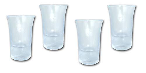 Unbekannt Schnapsglas/Stamperl 2cl aus SAN Kunststoffglas 4 Stück - Hochwertige Mehrweg Schnaps Gläser im Sparset