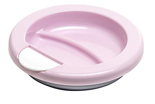 Rotho Babydesign Warmhalteteller, Ab 6 Monaten, Modern Feeding, 20,5 x 20,5 x 4,6 cm, Tender Rosé Pearl/Weiß/Perlsilber, 30020026301