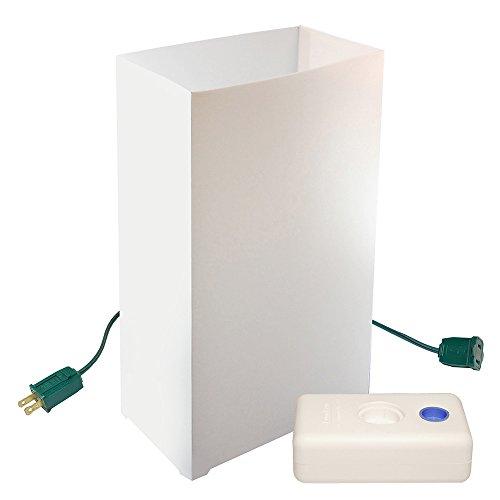Lumabase 32210 10 Count Electric Luminaria Kit, White