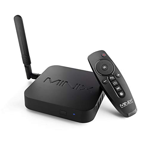 MINIX Android 9.0 Pie Media Hub 4K Ultra HD HDR10 + 4 Go DDR4/32 Go eMMC HDMI 4K @ 60 Hz 3 x USB 3.0 USB-C [données uniquement] GLAN AC Wi-Fi TF Card (NEO U22-XJ)