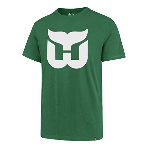 Hartford Whalers Men's Super Rival Logo T-Shirt - Green (Medium)