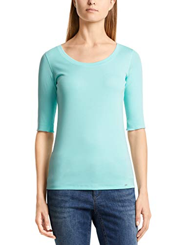 Marc Cain Collections Damen T-Shirts, Blau (Light Aqua 331), 44