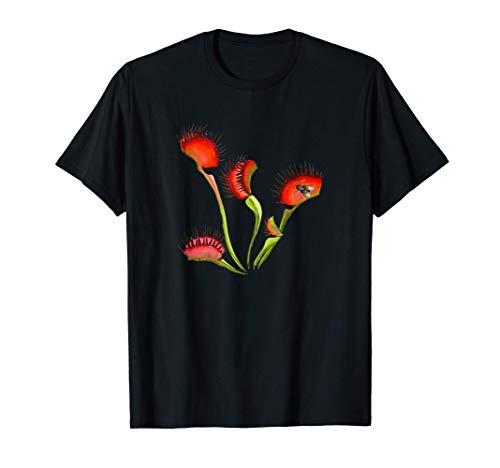 Camisa Botánica Plantas Carnívoras Venus Atrapamoscas Camiseta