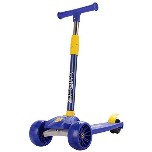 HLDUYIN Kick Scooter, Glide Scooter con Ruedas de luz PU Extra Anchas y 4 Alturas Ajustables para niños de 3-14 años