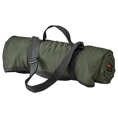 FJÄLLMOTT Picknickdecke dunkelgrün/schwarz 130x170cm