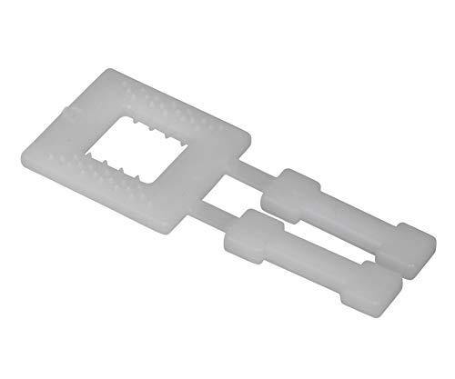 1000 hebillas de cierre de plástico transparente de erka, para flejado manual, pinzas de plástico, para cinta de polipropileno de 13 mm de ancho