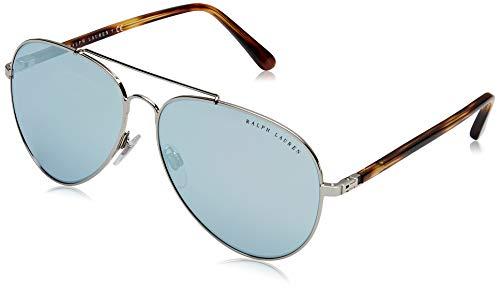 Ralph Lauren Damskie okulary przeciwsłoneczne 0RL7058 90016J 62, srebrne/niebieskie lustro białe