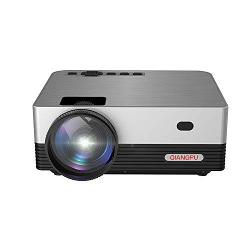 S& Proyector, Mini Cine En Casa 720P De Las Multimedias De WiFi HD HD, Proyector De TV De Pantalla HiFi,Plata