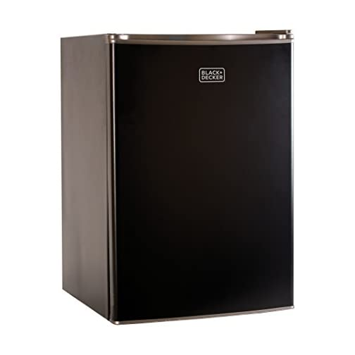 BLACK+DECKER BCRK25B Compact Refrigerator Energy Star Single Door Mini Fridge with Freezer, 2.5 Cubic Feet, Black 3