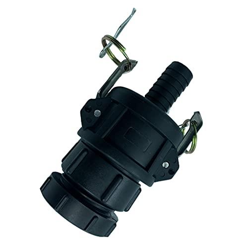 SDENSHI - Adaptador para depósito de tanque IBC, 62 mm, conector para depósito de 1000 litros
