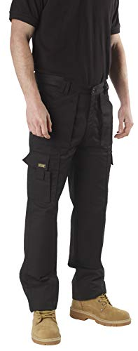 SITE KING Mens Multi Pocket Cargo Combat Work Trousers Size 28 to 52 with...