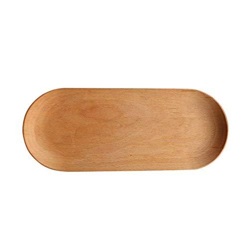 WEII Japanse solide houten dienblad ovaal avondeten bord hout dessert hout sausen brood pizza huishouden thee kopje bord keuken voorraad 30x13cm zoals afgebeeld
