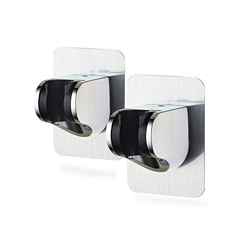 Soporte de ducha Delmkin 2 unidades, ajustable, sin agujeros, giratorio 360° para ducha