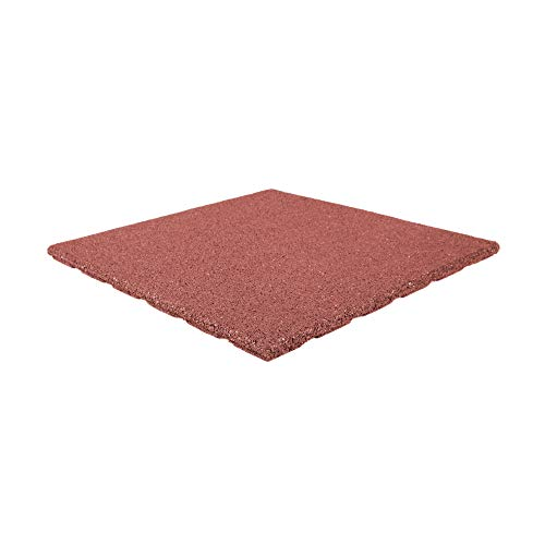 Terrassenplatte rot 50x50x2,5cm | Terrassenplatten | Gummigranulatmatten