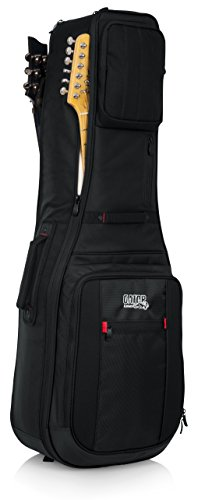 Gator Cases Pro-Go Ultimate Double Guitar Gig Bag; Holds (2) Electric Guitars (G-PG ELEX 2X)