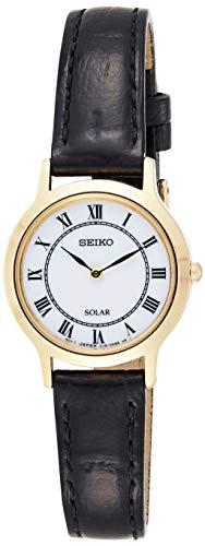Seiko Dames analoog kwarts horloge met lederen armband SUP304P1