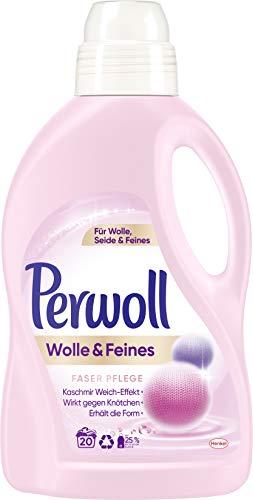 Perwoll Wolle und Feines Faser Pflege Feinwaschmittel, 20 Waschladungen, für Wolle, Seide und Feines