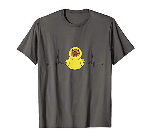 Ente Herzschlag Enten Gummiente Puls Entchen T-Shirt