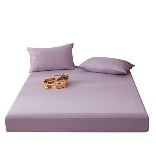 GmanXier Sábana de algodón Protector de colchón de Cuatro Estaciones Funda Antideslizante Colcha de Hotel sábanas Ajustables Individuales y Dobles Regalo-D.180 * 200 cm + 23 cm