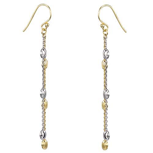 MATERIA Damen Ohrhänger lang 70mm - 925 Silber Schmuck Ohrringe in Gold/Rosegold/Silber in Geschenk-Box SO-361