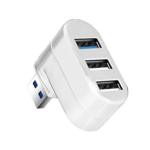 Binghotfire USB Hub 3/6 Puertos USB Hub Splitter Hab 1 Adaptador USB 3.0 Reader para PC portátil Blanco