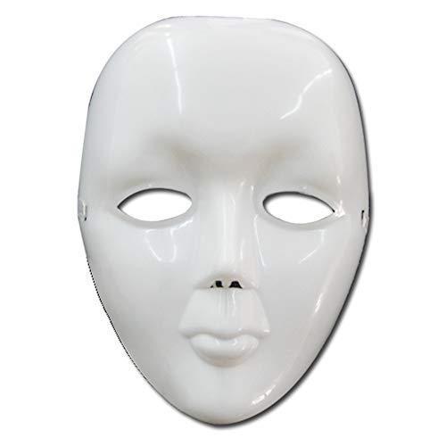 Black Sugar Unisex Maske, einfach, Weiß, verspiegelt, reflektierend, Violett, Silber, Rosa, Blau, Rot, Grün, Abendkostüm, Mittelalter Gr. onesize, weiß