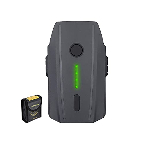 Mavic Pro Battery, Powerextra 11.4V 3830 mAh LiPo Intelligent Flight Battery + Battery Safe Bag Replacement for Mavic Pro & Platinum & Alpine White Drone (Not Fit for Mavic 2)