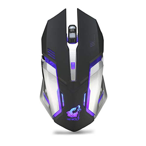BiaBai X7 Ergonomic Gaming Mouse 6 Buttons Computer Mouse LED Luminous 2.4G Wireless Mouse for PC Computer Laptop
