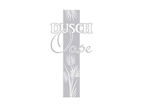 GRAZDesign Sichtschutz Folie Dusche Oase mit Palmen-Blätter, Fensterfolie für Badezimmer / 120x57cm