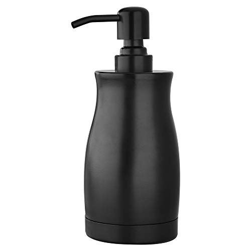 Pirooso Soap Dispenser, Stainless Steel Countertop Lotion Dispenser (13.5 OZ / 400ML), Rust-Proof Bathroom Soap Dispenser, Suitable for Kitchen, Bathroom Soap Dispenser, Matte Black