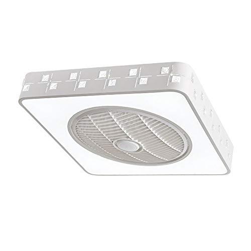 Éclairage personnalisé, lumières de décoration de Purificateur d'air ventilateur lumière minimaliste moderne chambre plafonnier pour enfants ajustement de la télécommande carrée, source de lumière LED