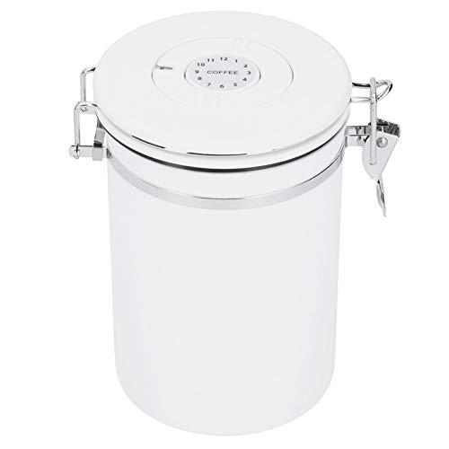 03 Botes de harina, Contenedor de Almacenamiento de Alimentos, Bocadillos de Acero Inoxidable para té en Grano de café(Large)