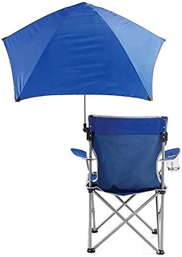 dh-4 Silla Plegable de Pesca al Aire Libre con sombrilla, toldo, Paraguas y portavasos, Tela de Asiento, Impermeable, cómodo, Duradero para campamentos de Verano