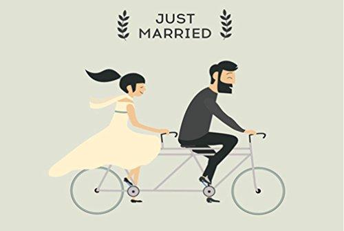 Crealuxe Fussmatte Just Married - Fussmatte Bedruckt - Türmatte Innenmatte Schmutzmatte lustige Motivfussmatte