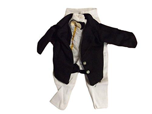 fat-catz-copy-catz Vêtements pour Poupée Ken Action Man GI Joe t-Shirt Blanc Jeans/Pantalons Noir & Veste Noire